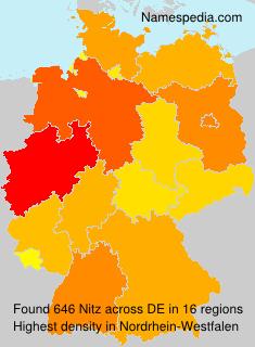 Familiennamen Nitz - Germany