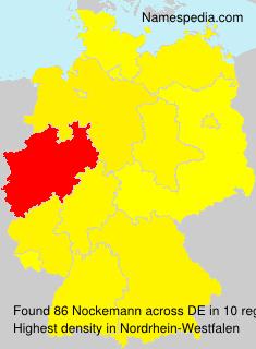Familiennamen Nockemann - Germany