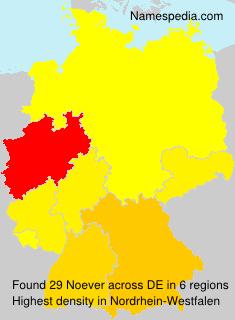 Familiennamen Noever - Germany