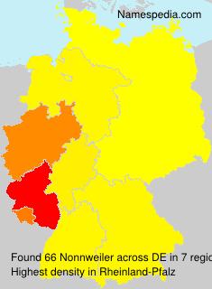 Surname Nonnweiler in Germany