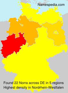 Surname Norra in Germany