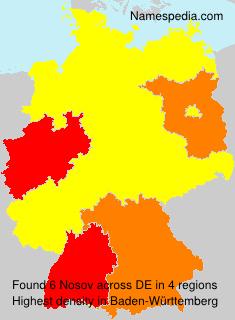 Familiennamen Nosov - Germany