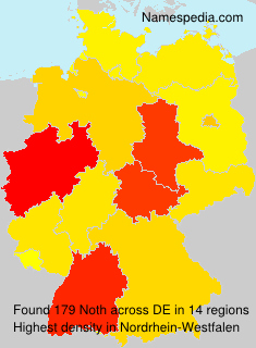 Surname Noth in Germany
