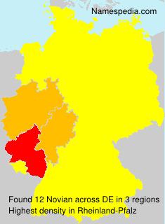 Familiennamen Novian - Germany