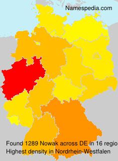 Surname Nowak in Germany
