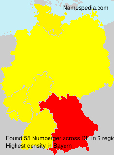 Surname Numberger in Germany