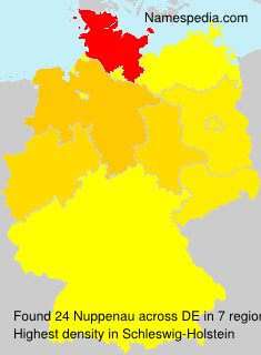 Surname Nuppenau in Germany