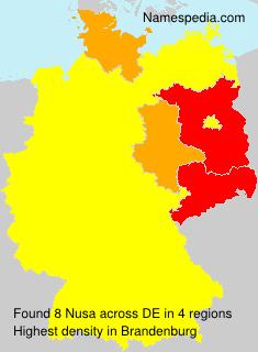 Familiennamen Nusa - Germany