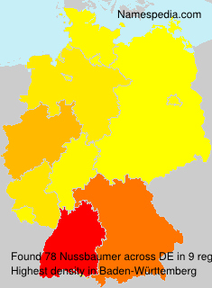 Surname Nussbaumer in Germany
