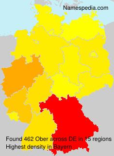 Familiennamen Ober - Germany