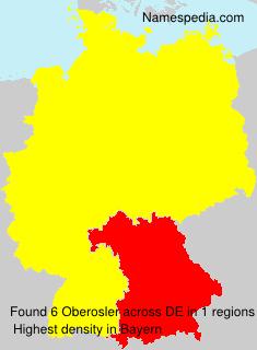 Surname Oberosler in Germany