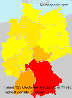 Surname Oechsner in Germany