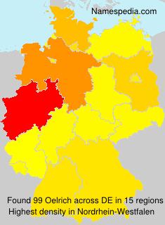 Familiennamen Oelrich - Germany