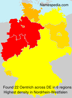 Surname Oentrich in Germany