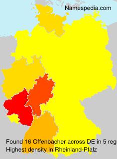 Familiennamen Offenbacher - Germany