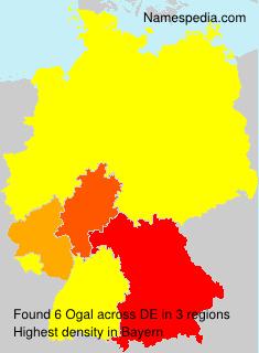 Familiennamen Ogal - Germany