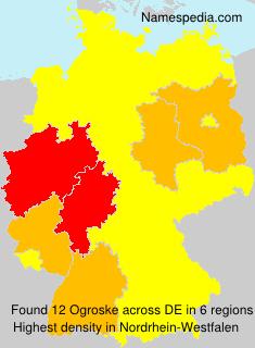 Surname Ogroske in Germany