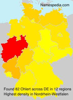 Surname Ohlert in Germany