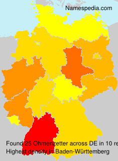 Surname Ohmenzetter in Germany