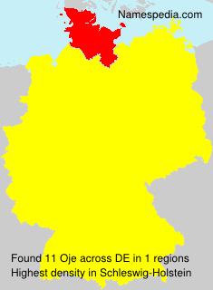 Surname Oje in Germany