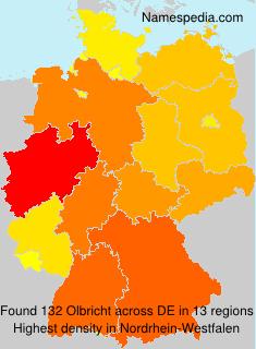 Surname Olbricht in Germany