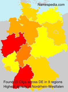 Surname Olga in Germany