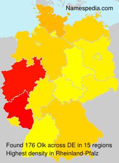 Familiennamen Olk - Germany