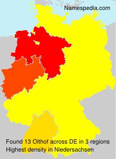 Familiennamen Olthof - Germany