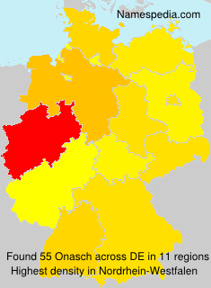 Familiennamen Onasch - Germany