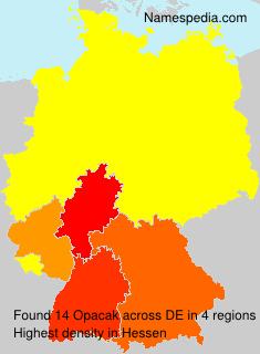 Familiennamen Opacak - Germany