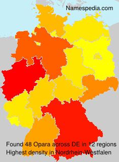 Familiennamen Opara - Germany