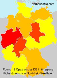 Familiennamen Opas - Germany