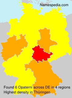 Familiennamen Opaterni - Germany