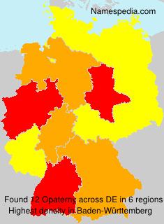 Familiennamen Opaterny - Germany