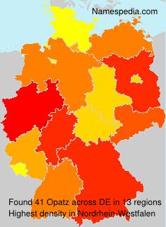 Familiennamen Opatz - Germany