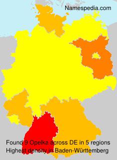 Surname Opelka in Germany