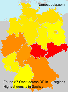 Surname Opelt in Germany