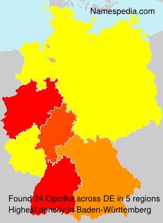 Surname Opiolka in Germany