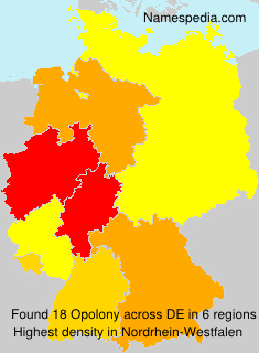 Surname Opolony in Germany