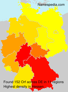 Surname Orf in Germany
