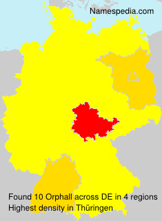 Surname Orphall in Germany