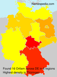 Surname Ortlam in Germany