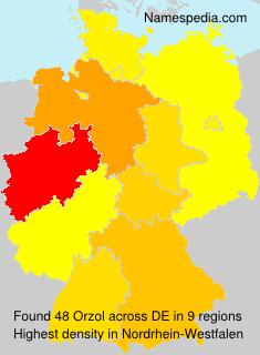 Familiennamen Orzol - Germany