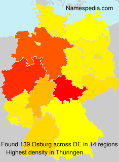 Surname Osburg in Germany