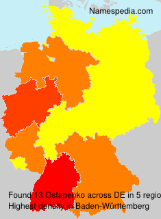 Surname Ostapenko in Germany