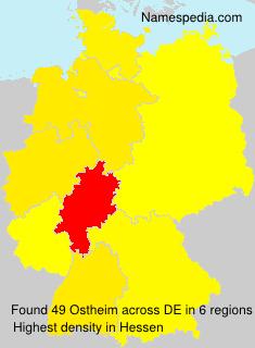 Familiennamen Ostheim - Germany