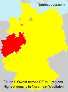 Surname Owald in Germany