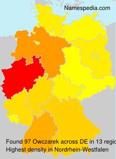 Surname Owczarek in Germany