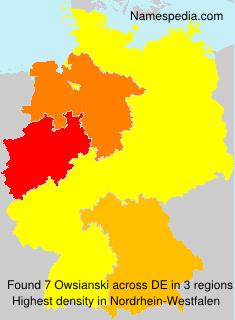 Familiennamen Owsianski - Germany