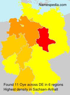 Surname Oye in Germany